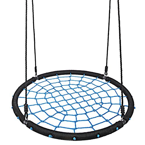 Kindsells Hammock Chair Macrame Swing Hanging Chair,Perfect for Indoor Outdoor Home, Garden, Deck, Yard (Blue) by Kindsells