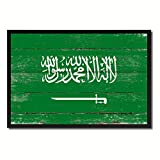 Saudi Arabia National Country Flag Shabby Chic Canvas Print Picture Frame Gift Ideas Home Decor Office Wall Art 7″ x 10″ For Sale
