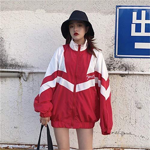 Giacche Fashion Camicetta Giubbino Autunno Sportivo Estivi Lunga Manica Digitale Relaxed Misti Donna Moda Leggero Giovane Cappotto Casual Colori Pattern Primaverile Jacket Rot rwtCRw