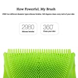 INNERNEED Soft Silicone Body Cleansing Brush Gentle Bath Exfoliating Glove Shower Scrubber for Sensitive, Delicate, Dry Skin