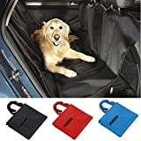 Pet Dog Car Seat Cover for Rear Bench Waterproof Hammock Style Outdoor (Black)