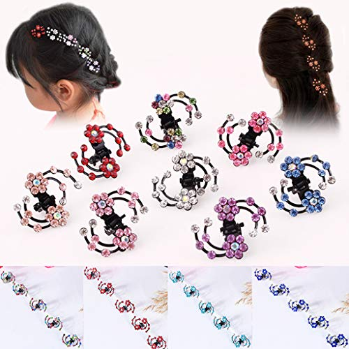 (Mini Hair Claw Clip Hair Clip,16 Pcs Crystal Rhinestone Mini Flower Hair Claw Clip Baby Toddler Girl Hair Bangs Pin Kids Hair Accessories)