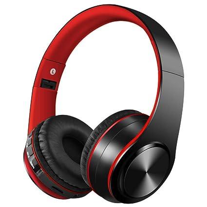 Auriculares Bluetooth con Micrófono Hi-Fi Deep Bass,ZLX Inalámbricos Headphones Plegables con Cancelación