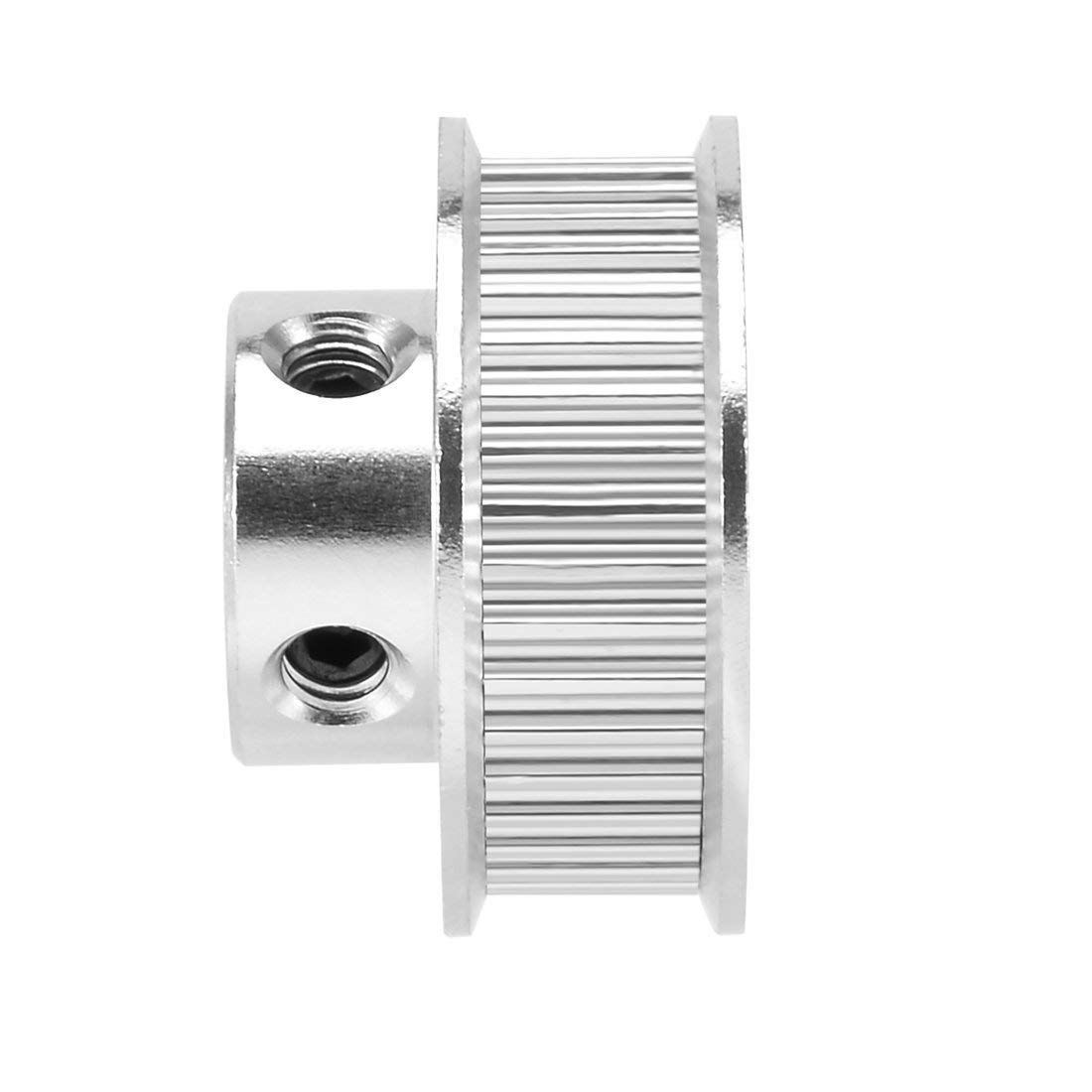 LICTOP 2pcs Aluminum GT2 40 Teeth 8mm//0.31 Bore Timing Belt Pulley Flange Synchronous Wheel for 3D Printer Accessories,Milling Machine 40T-8mm