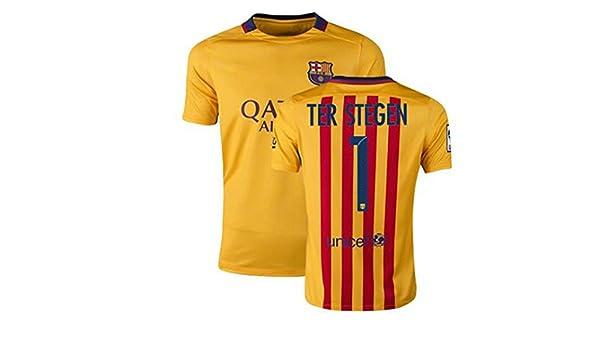07bb45efa Marc Andre Ter Stegen  1 Jersey 2015-2016 Barcelona Away Jersey Spain  Football Club