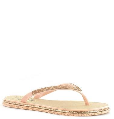 9996fa852 Womens Ladies Ella Julie Diamante Flip Flops Sandals Flat Toe Post Mule  Sparkly (UK 3