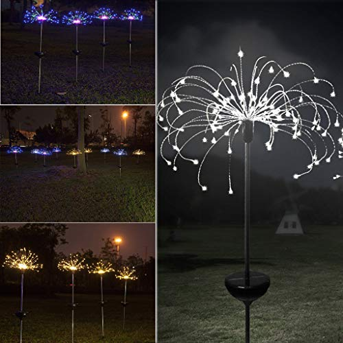 Wanzi2 150LED Solar Power Garden Light Outdoor Fireworks LED Lawn Lamp,Suit for Christmas, Halloween,Thanksgiving Day,Mother's Day,Valentine's Day,Party,Unique Decoration -