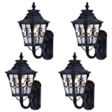 Tangkula Light Fixture 4 Pack Outdoor Porch Garage Vintage Style Waterproof Exterior Wall Sconce