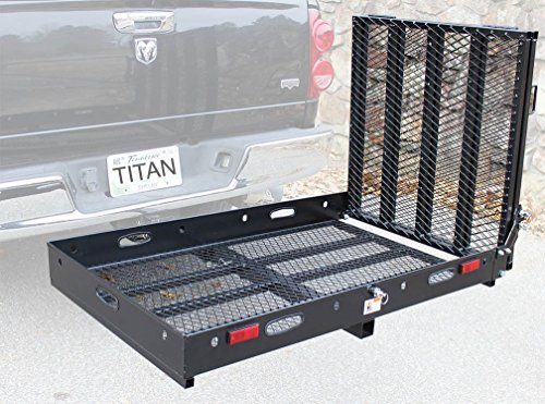 hitch cargo carrier with ramp - 3