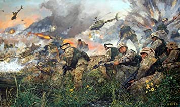 James Dietz The Battle for An Najaf 101st Airborne Division Military Aviation Art Publishers Proof