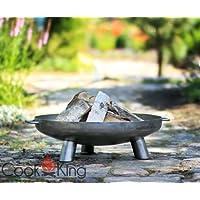 Bali 70cm CookKing Feuerschale Stahl schwarz XXL ✔ rund