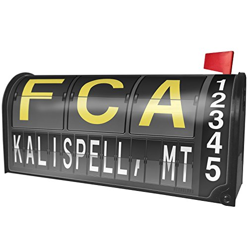 Used, NEONBLOND FCA Airport Code Kalispell, MT Magnetic Mailbox for sale  Delivered anywhere in USA