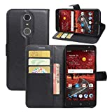 ZTE Grand X4 Case, ZTE Grand X 4 Case, Fettion Premium PU Leather Wallet Phone Protective Flip Case Cover with Stand Card Holder for ZTE Grand X4 2016 Smartphone (Black)
