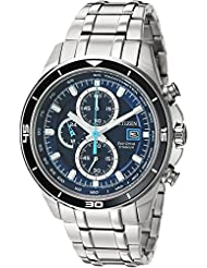 Citizen Mens  Quartz Stainless Steel and Titanium Casual Watch, Silver-Toned (CA0349-51L)