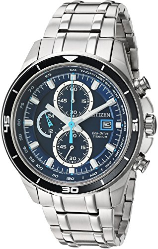 Citizen Men's  Quartz Stainless Steel and Titanium Casual Watch, Silver-Toned (CA0349-51L) ()