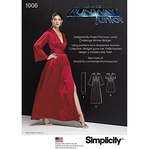 Buy bell sleeve dress sewing pattern - 3