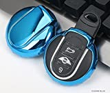 Electroplated TPU Smart key Fob Cover Skin Case for MINI Anti Shock Scratch-Resistant Car Vehicle Chrome Metalic Mirror Effect Bumper protector protection Shine Decorotive Decoration
