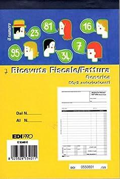 Blocco ricevuta fiscale - fattura generica EDIPRO pagg. 50x2 autoricalcanti (10)