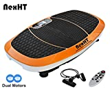 NexHT Fitness Vibration Platform,Whole Full Body Shape Exercise Machine,Vibration Plate,Fit Massage Workout Trainer with Two Bands &Remote,Max User Weight 330lbs. (Orange 89015A)