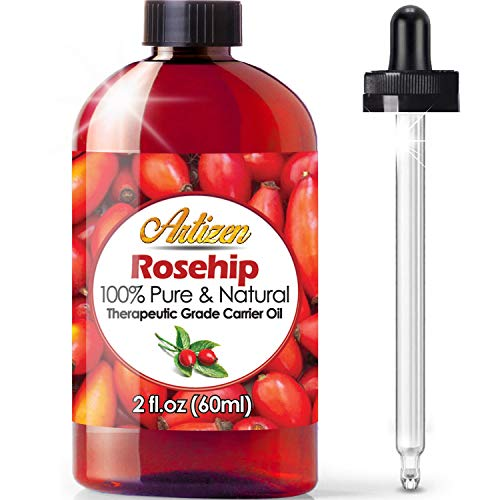 2oz Rosehip Oil by Artizen (100% Pure & Natural) - Cold Pressed & Harvested from Fresh Roses Bushes & Rose Seed - Rose Hip Oil is Perfect for Your Skin, Face, Nails, Hands