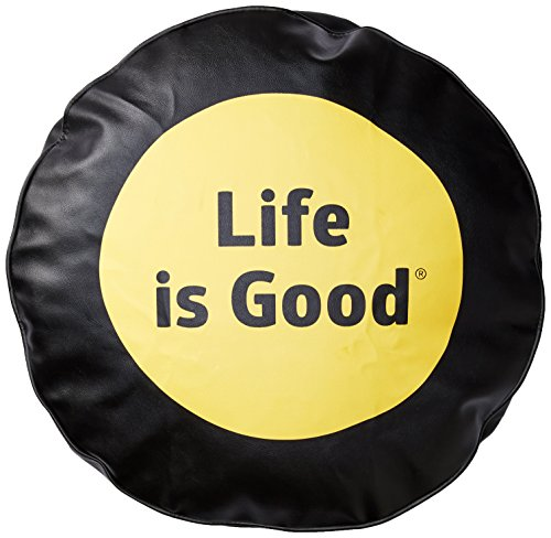 Life is good Tire Cover Dot Tire Cover (Night Black), 28 (Good Life Jeep Is)