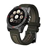 Gents Outdoors Sports Smart Watch with Pedometer Barometer Altimeter Thermometer Compass And Heart Rate Test etc. (Black)