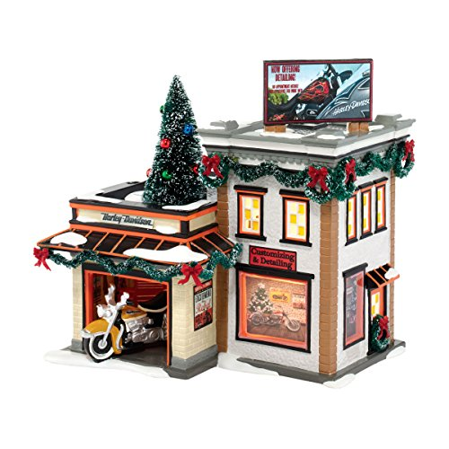 Department 56 Snow Village Harley-Davidson Detail Shop by Department 56