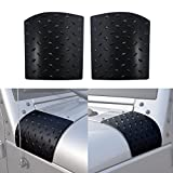 Jeep JK Black Body Armor Durable Diamond Plate Side Cowl Cover Trim for 2007-2018 Jeep Wrangler & Unlimited