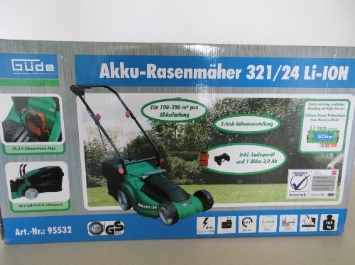 Batería Cortacésped 321/24 Ion de litio: Amazon.es: Jardín