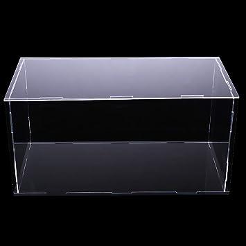 40x25x25cm MagiDeal Vetrina Acrilica Trasparente Custodia Antipolvere Modello Figure Scatola di Protezione