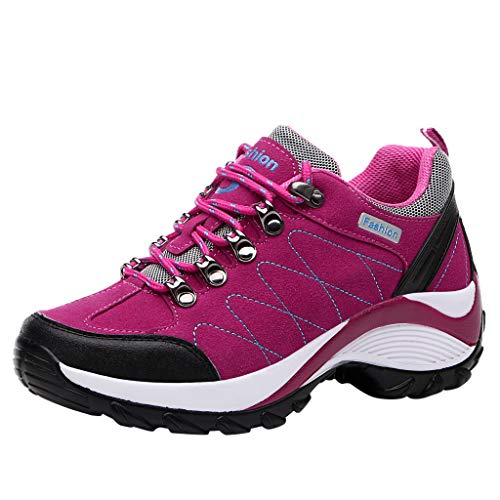 Aubbly Women Walking Shoes Comfortable Travel Slip On Mesh Breathable Air Cushion Athletic Fashion Tennis Sneakers Hot Pink