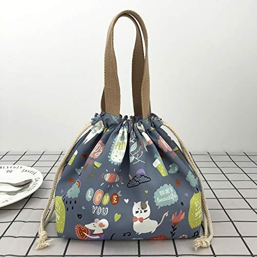 Lunch Bags Home Bolsa de Almuerzo para Mujeres Bolsa de Almuerzo con Aislamiento a Prueba de Fugas Resistente al Agua Bolsa de Asas Duradera para el Almuerzo