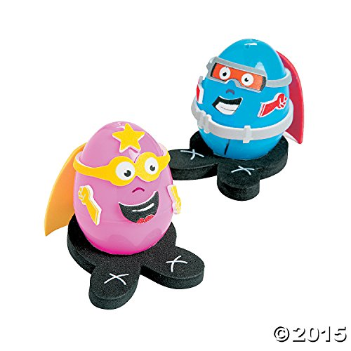 Superhero Easter Egg Decorating Craft