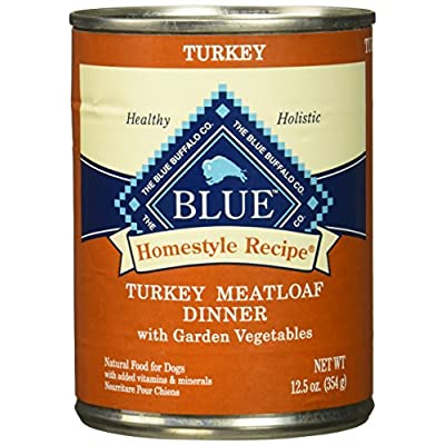 Blue Buffalo Homestyle Recipe Turkey Meatloaf Dinner Canned Dog Food, 12 pack