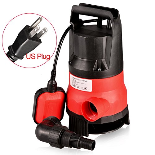 Anfan 1/2 HP Submersible Sump Pump 400W Dirty Clean Water Pump with 15ft Power Cord