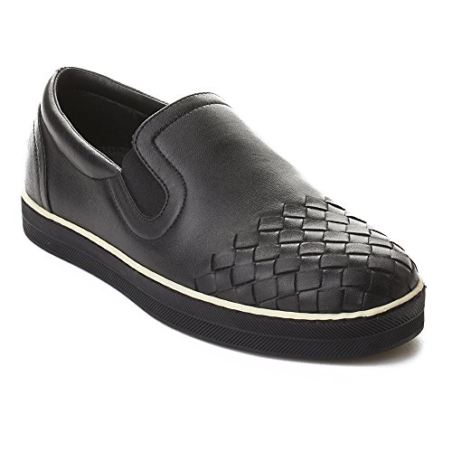 Bottega Veneta Women's Intrecciato Calf Sail Slip-on Sneakers Shoes Black