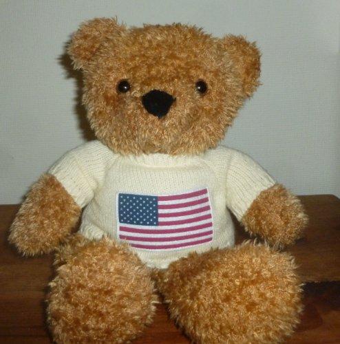 Beverly Hills Teddy Bear Wearing American Flag (American Flag Teddy Bear)