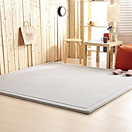 Amazon.com: Grey Area Rugs For Living Room Kitchen Rugs Tatami ...