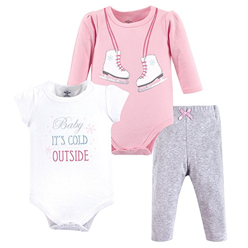 Little Treasure Baby 2 Bodysuit and Pant Set, Ice Skates, 12-18 Months - Skate Clothing Girl