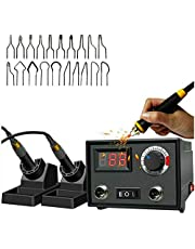 Weehomy Wood Burning Kit, Digital Display Adjustable Temperature Heat-Resistent Pyrography Machine, Wood Burner Woodburning Tool for Adults w/20 Pyrography Wire Tips and Penholder (60W-Dual Pen Set)