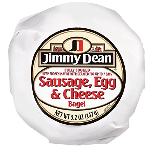 Jimmy Dean Sausage, Egg and Cheese Bagel Sandwich, 5.2 oz., 12 per case