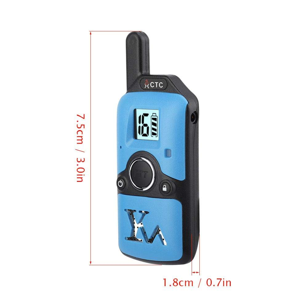 Bicaquu Mini Two Way Radio 400-480 MHz Children Walkie Talkie 99 Channel Kids Interphone alkie Talkie Mini Walkie Talkie Two Way Radio Mini Interphone(Blue) by Bicaquu (Image #4)