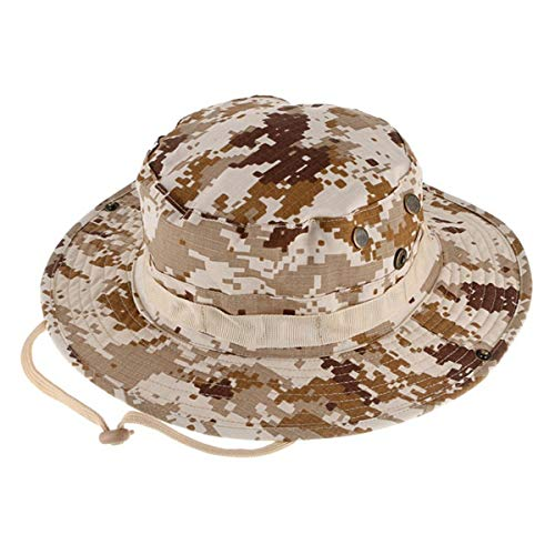Outdoor Boonie Hat Foldable Military Cap Wide Brim Breathable Safari Fishing Hats UV Protection hat Sun Hats (White) - Jungle Boonie Hat