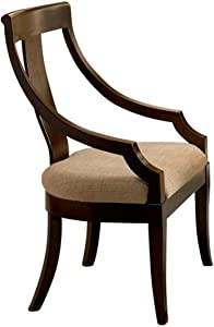 Coaster Home Furnishings Cresta Classic Vertical Splat Arm Chair Red Brown and Tan