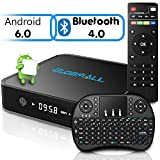 [Free Mini QWERTY Keyboard] Globmall 4K Android 6.0 TV Box, 2017 Model X1 android TV Box 64 Bits Amlogic S905X Marshmallow OS with Bluetooth 4.0