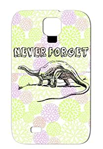 Tear-resistant Black Case For Sumsang Galaxy S4 Funny Dinosaurs Funny Brontosaurus History Dinosaur Satire Never Forget Dinosaurs