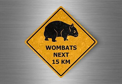 Akacha Aufkleber Sticker Auto Sign Achtung Australien Straßenschild Wombats Auto