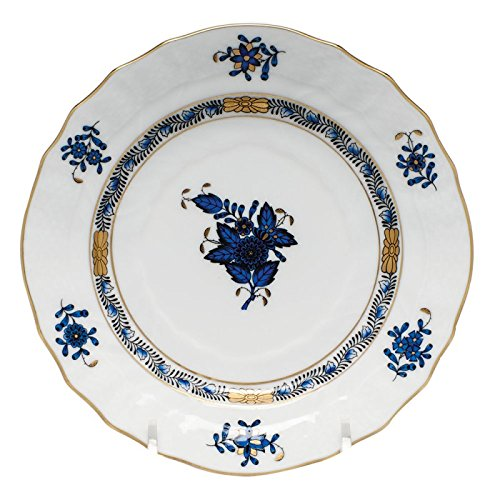 Bouquet Bread Plate - Herend China Chinese Bouquet Black Sapphire Bread and Butter Plate