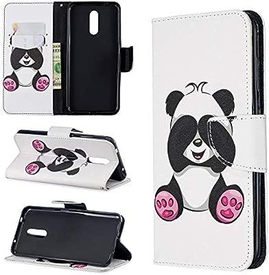 BgkjZX Funda Nokia 3.2 2019 - Funda para Nokia 3.2 2019 Protector de Tarjeta con Tapa de Billetera de Cuero PU,Funda de Cuero Pintada a la Moda [Panda ...