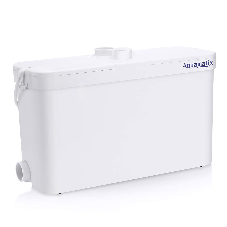 Aquamatix Broyeur Sanitaire pour l'évacuation Des Eaux Usées WC, Douche, Lavabo, Machine A Laver, Lave-Vaisselle (Excellencia S)